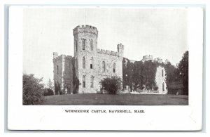 Postcard Winnikenie Castle, Haverhill MA dated 1906 I13