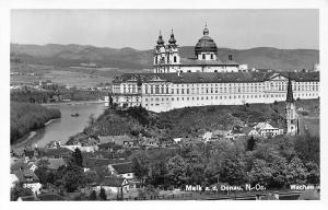 Austria Melk a.d. Donau Niederoesterreich, Echte Fotografie AK 1955