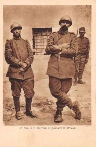 Italian Military Soldiers with Prisoners in Handcuffs Antique Postcard J73446