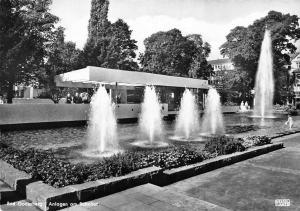 Bad Godesberg Anlagen am Bahnhof Brunnen, Fountain Railway Station Promenade
