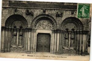 CPA Dinan-Portail de l'Église Saint Sauveur (230023)