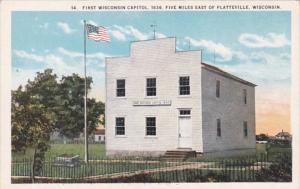 Wisconsin Platteville First Wisconsin Capitol 1936