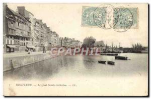Postcard Old Honfleur Quai Ste Catherine