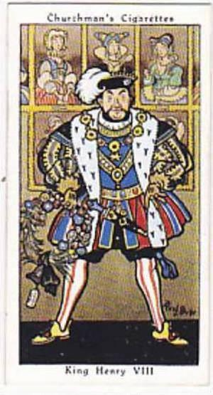 Churchman Vintage Cigarette Card Howlers No 4 King Henry VIII  1937
