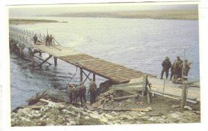 Falkland Islands; 1982 ; Para Sqn. , Royal Enmgineers rebuild the Bridge at B...