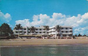 Sea Crest Manor, Beach Scene, HOLLYWOOD, Florida, PU-1954