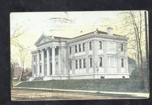 SEDALIA MISSOURI CARNEGIE LIBRARY BUILDING VINTAGE POSTCARD EGLY KANSAS CITY MO