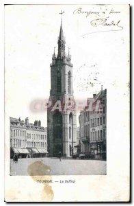 Old Postcard Tournai Belfry