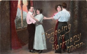 H11/ Harmony Minnesota Postcard c1910 Greetings Harmony Minnesota Tango