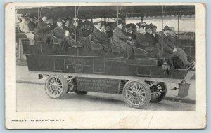 PMC Postcard Washington DC c1906 All Around Washington Auto Company Tour Bus AD9