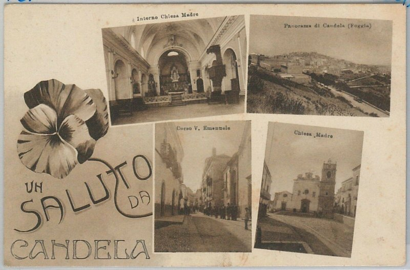 CARTOLINA d'Epoca - FOGGIA provincia : Candela  - BELLA!!