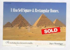 AD, I Also Sell Square & Rectangular Homes, Pyramids of Egypt, 1980s