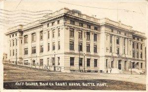 LP13  Butte Montana Postcard RPPC Court House