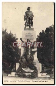 Old Postcard Metz Monument to the Liberator Hairy (Inaugurates June 3, 1923)