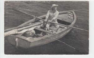P1996, 1956 postcard cuba stamps Ernest Hemingway's fisherman old man & the sea