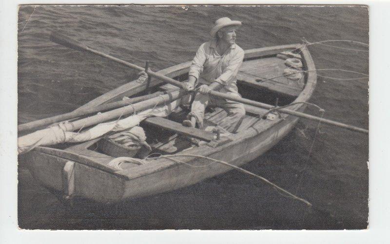 P1996, 1956 postcard cuba stamps Ernest Hemingway's fisherman old man & the sea