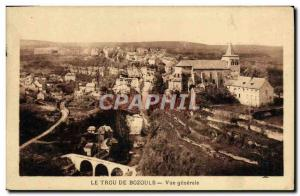 Old Postcard From The Hole Bozouls General view