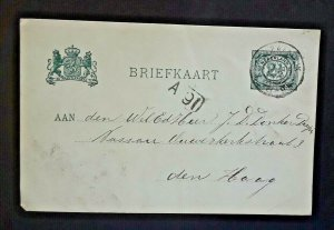 1902 Koog Zaandiijk Holland To The Hague Holland Vintage Postcard