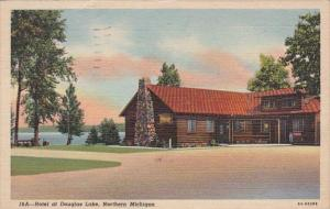Michigan Hotel On Douglas Lake 1952 Curteich