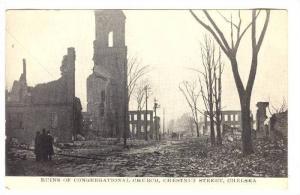 Ruins of Congregational Church, Chestnut Street, Chelsea, Massachusetts, fire...