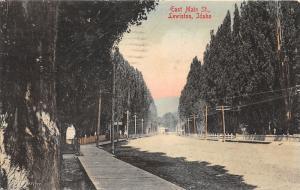 Lewiston Idaho~East Main Street (Unpaved)~Wooden Sidewalk~1909 Postcard