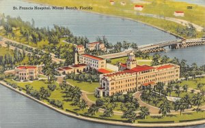 LP32   Miami Beach Florida Postcard St Francis Hospital