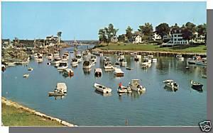 Ogunquit, Maine/ME Postcard, Boats In Harbor, Perkins Cove
