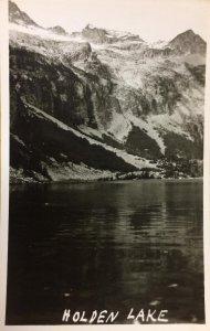 RPPC HOLDEN LAKE, WA Washington State ca 1940s Vintage Real Photo Postcard