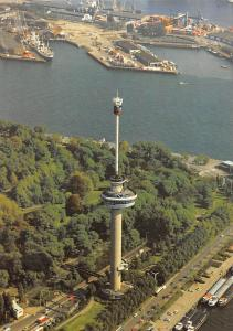 Netherlands Rotterdam Luchtfoto Euromast met Space Tower Boats Aerial view