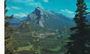 Canada Alberta Banff Townsite And Mount Rundle