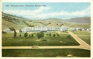 WY, Yellowstone National Park, Wyoming, Mammoth Hotel, H H T Co No. 4300
