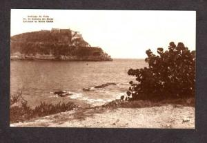 CUBA Entrance Morro Castle Havana Habana  Real Photo Postcard RPPC RP