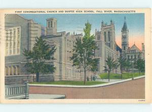 Linen HIGH SCHOOL Fall River Massachusetts MA AD1758