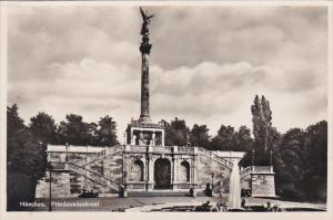 Germany Muenchen Friedensdenkmal Real Photo
