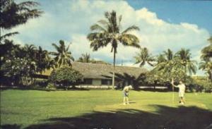 Hana Ranch Hotel, Hana, Maui, HI USA Golf, Golfing Postcard Post Card Old Vin...