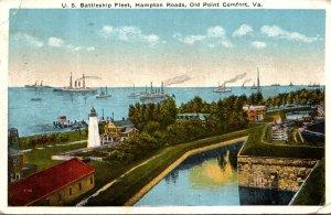 Virginia Hampton Roads U S Battleship Fleet 1919