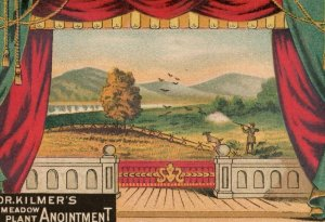 1880's U&O Meadow Plant Anointment Quack Medicine Hunting Trade Card P144