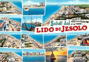 Italy Saluti dal Lido di Jesolo, Greetings from the shore, multiviews