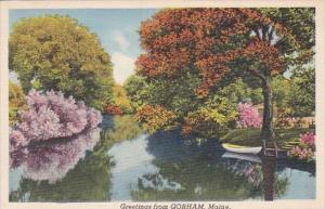 Greetings From Gorham Maine Lake Scene