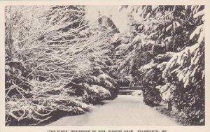 Maine Ellsworth The Pines Residence Of Mrs.Eugene Hale Albertype