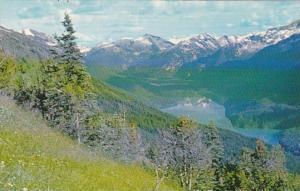 Canada British Columbia Cheakamus Lake From Whistler Mountain Garibaldi Provi...