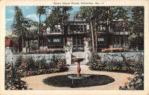 Columbus Georgia Green Island Ranch Entrance Antique Postcard K67847