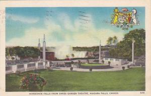 Horseshoe Falls from Oakes Garden Theatre, Niagara Falls, Ontario,  Canada, P...