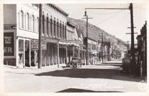 Nevada Virginia City C Street Real Photo sk3442
