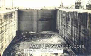 Panama Panama Canal Gatun Locks Jan 3, 1914 Real Photo