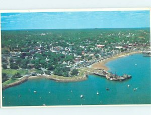Pre-1980 AERIAL VIEW Plymouth - Near Brockton Massachusetts MA AD0201