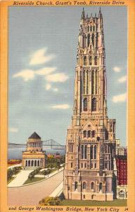 11927 NY NY City 1940's   Riverside Church,  Grant's Tomb,  George Was...