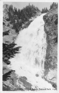 RPPC, WA Washington  SLUISKIN FALLS~Mount Rainier National Park c1920's Postcard