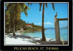 postcard Virgin Islands - Pelican Beach, St. Thomas