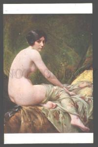101234 NUDE Young Woman on Sofa by PENOT vintage SALON PC